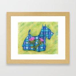 Scottish Terrier Silhouette Framed Art Print