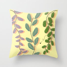 Different Kinds of Leaves Throw Pillow