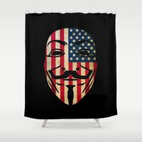 anonymous Shower Curtains featuring Anonymous USA by Spyck