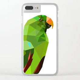 Eclectus parrot Geometric bird art Clear iPhone Case