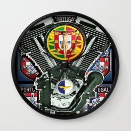 Portuguese Biker pride. Wall Clock