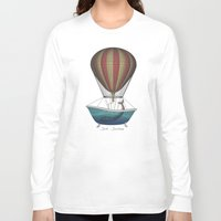 whales Long Sleeve T-shirts featuring Whales by Galen Valle