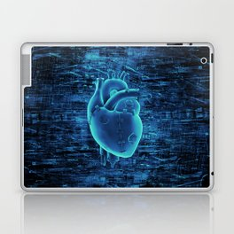 Gamer Heart BLUE TECH / 3D render of mechanical heart Laptop & iPad Skin