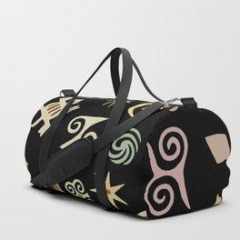 African Adinkra Symbols Duffle Bag
