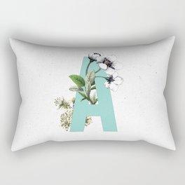 Letter 'A' Monogram Rectangular Pillow