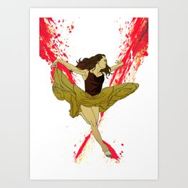 The Ballerina Art Print