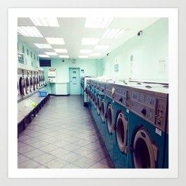 Laundry Store Art Print