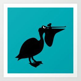 Angry Animals: Pelican Art Print