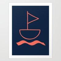 sail Art Prints featuring sail by gzm_guvenc