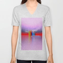 time to draw a picture -2- Unisex V-Neck