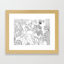 Coloring for Real Grownups. Delivery Room Framed Art Print