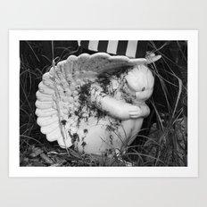 cemetery angel VI Art Print