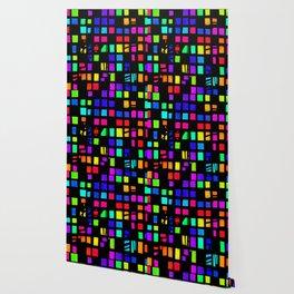 Rainbow Pixel in darck Wallpaper