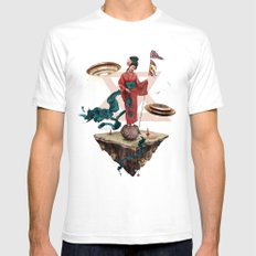 fly away Mens Fitted Tee White SMALL