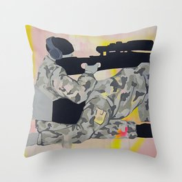 kamuflaj Throw Pillow