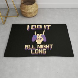 Funny Gaming Gamer Video Games Quote Gift Rug