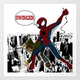 Swinger- A spiders story Art Print