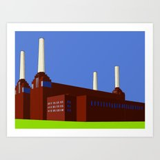 Battersea Power Station, London Art Print