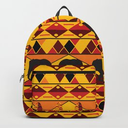 African Tribal Pattern No. 34 Backpack