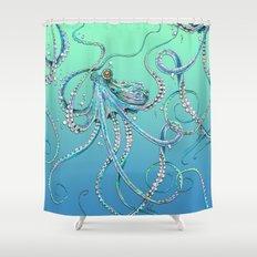 Drunk Octopus Shower Curtain