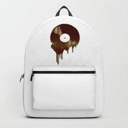 Bronze Melting Vinyl Record Backpack