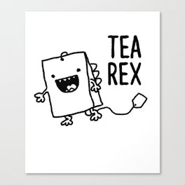 Tea Rex Funny Tea Bag T Rex Pun Canvas Print
