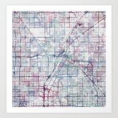 Las Vegas map Art Print