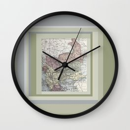 Turkey Syria Romania Bulgaria vintage antique map Wall Clock