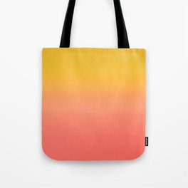 Coral to Gold Ombre Hombre Sunset Tote Bag