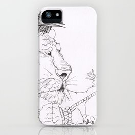 Lion and mouse iPhone Case