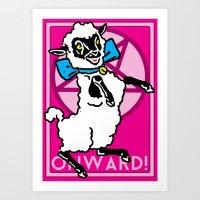onward Art Prints featuring Onward! by Sellergren Design - Art is the Enemy