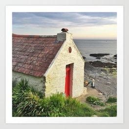 Irish cottage, Ireland Art Print