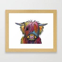 Scottish Highland Cow ' BRaVEHEaRT 2 ' by Shirley MacArthur Framed Art Print