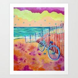 Calm Seas and Cruiser Art Print
