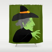 witch Shower Curtains featuring Witch by Jessica Slater Design & Illustration