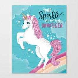 Unicorn Sparkle Canvas Print