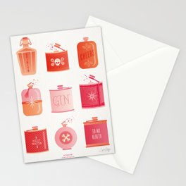 Flask Collection – Pink/Peach Ombré Palette Stationery Cards