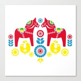 Swedish Dalahäst Canvas Print