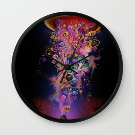 Electric Jellyfish In your Hands Wall Clock