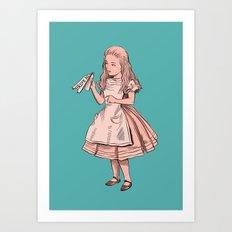 Drink Me - Alice in Wonderland illustration Art Print