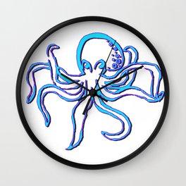 Neon Octopus Wall Clock