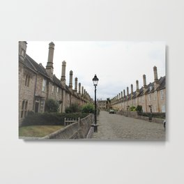 Wells Cathedral Classic/historic/old houses and side street in England Metal Print
