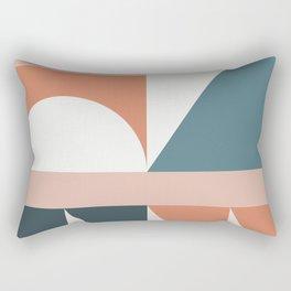 Cirque 03 Abstract Geometric Rectangular Pillow