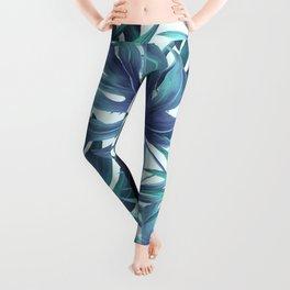 Blue Tropical Leggings