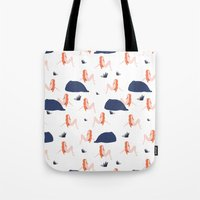naked Tote Bags featuring Naked by .eg.