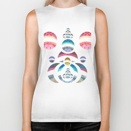 Powerful Womb Chi Love Geometry Biker Tank