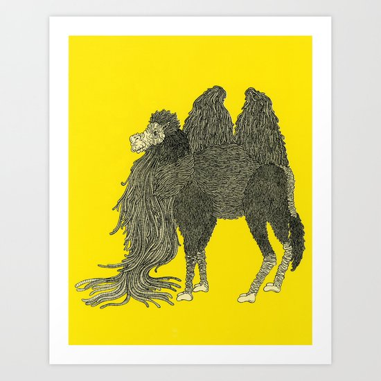 Yellow Camel Art Print