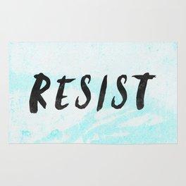 RESIST 5.0 - Black on Teal #resistance Rug