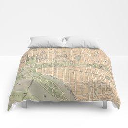 Vintage Map of Washington DC (1892) Comforters