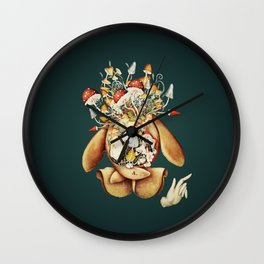 Toadstool Spirit Wall Clock